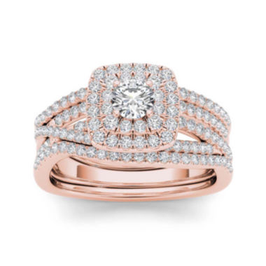 jcpenney.com | 1 CT. T.W. 10K Rose Gold Bridal Set