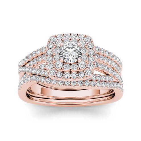 1 CT. T.W. 10K Rose Gold Bridal Set