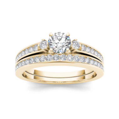 jcpenney.com | 1 CT. T.W. Diamond 14K Yellow Gold Bridal Set