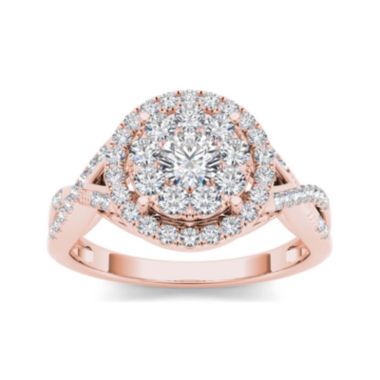jcpenney.com | 3/4 CT. T.W. Diamond 10K Rose Gold Engagement Ring