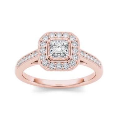 jcpenney.com | 1/2 CT. T.W. Diamond 14K Rose Gold Engagement Ring