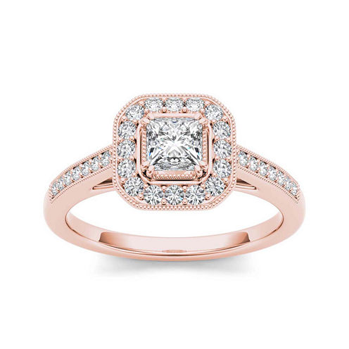 1/2 CT. T.W. Diamond 14K Rose Gold Engagement Ring