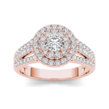 jcpenney.com | 1 CT. T.W. Diamond Halo 10K Rose Gold Engagement Ring