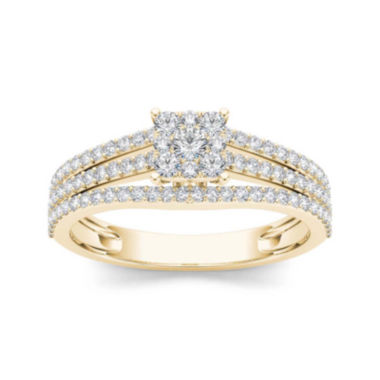 jcpenney.com | 5/8 CT. T.W. Diamond 10K Yellow Gold Engagement Ring
