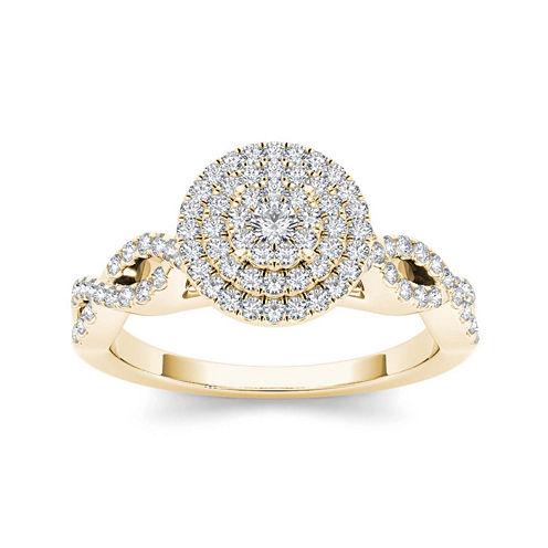 3/4 CT. T.W. Diamond 10K Yellow Gold Engagement Ring