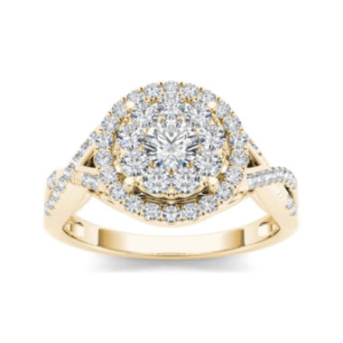 jcpenney.com | 3/4 CT. T.W. Diamond 10K Yellow Gold Engagement Ring
