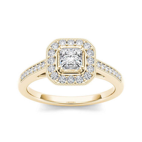 Diamond 14K Yellow Gold Engagement Ring 2