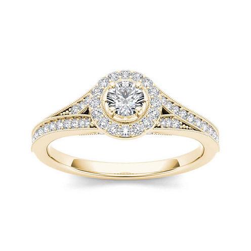 5/8 CT. T.W. Diamond 14K Yellow Gold Engagement Ring