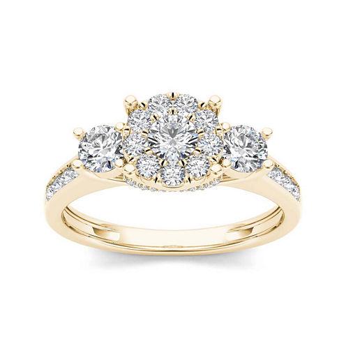 1 CT. T.W. Diamond 10K Yellow Gold 3-Stone Ring