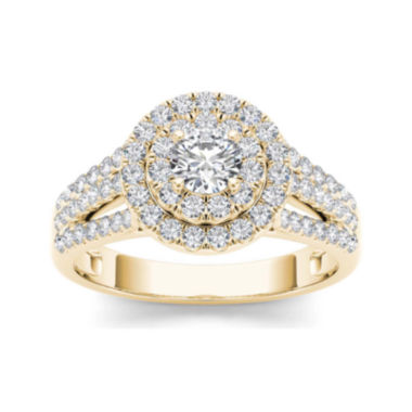 jcpenney.com | 1 CT. T.W. Diamond Halo 10K Yellow Gold Engagement Ring