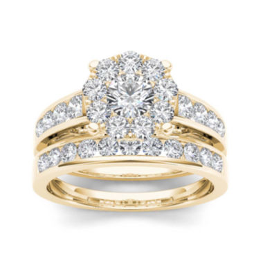 jcpenney.com | 1 1/2 CT. T.W. Diamond 10K Yellow Gold Bridal Set