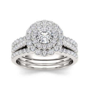 jcpenney.com | 1 1/2 CT. T.W. Diamond 14K White Gold Bridal Set