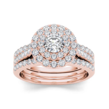 jcpenney.com | 1 1/2 CT. T.W. Diamond 14K Rose Gold Bridal Set