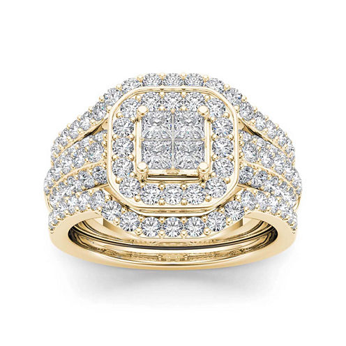 1 3/4 CT. T.W. Diamond 10K Yellow Gold Bridal Ring Set