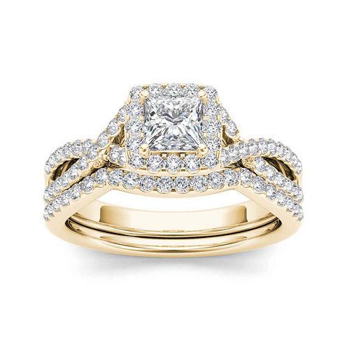 1 1/4 CT. T.W. Diamond 14K Yellow Gold Bridal Set