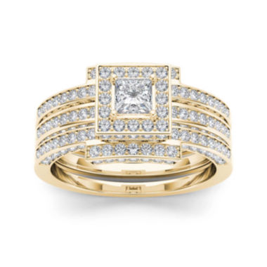jcpenney.com | 1 1/2 CT. T.W. Diamond 14K Yellow Gold Bridal Set