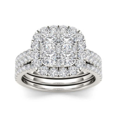 jcpenney.com | 2 CT. T.W. Diamond 14K White Gold Bridal Set
