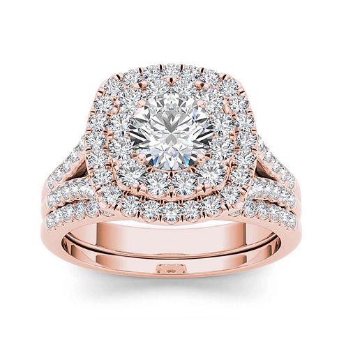 2 CT. T.W. Diamond 14K Rose Gold Bridal Set