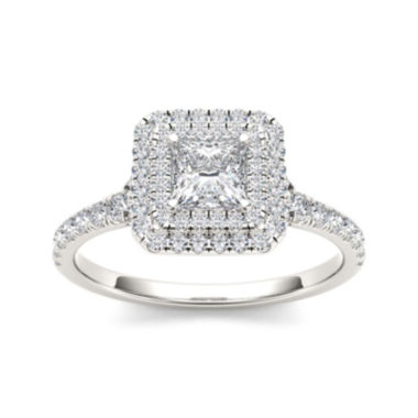 jcpenney.com | 1 CT. T.W. Diamond 14K White Gold Framed Engagement Ring