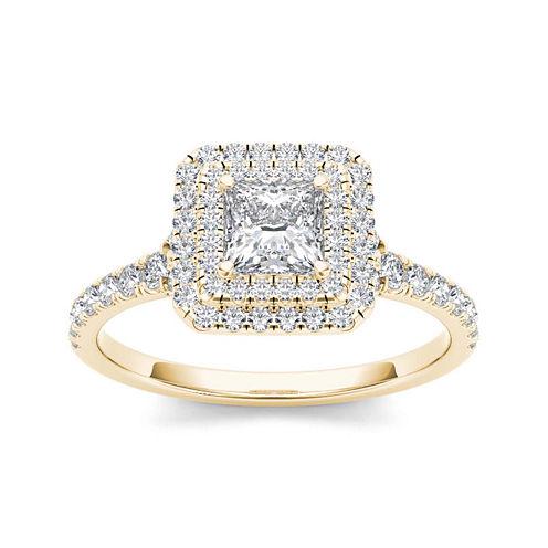 1 CT. T.W. Diamond 14K Yellow Gold Engagement Ring