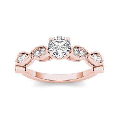 1 CT. T.W. Diamond 14K Rose Gold Engagement Ring