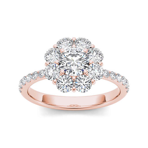 1 3/4 CT. T.W. Diamond 14K Rose Gold Engagement Ring