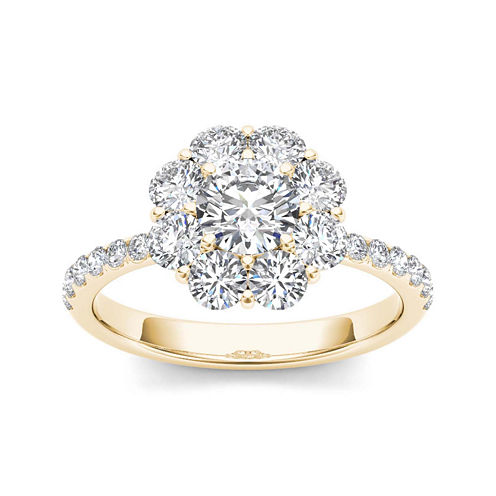 1 3/4 CT. T.W. Diamond 14K Yellow Gold Engagement Ring