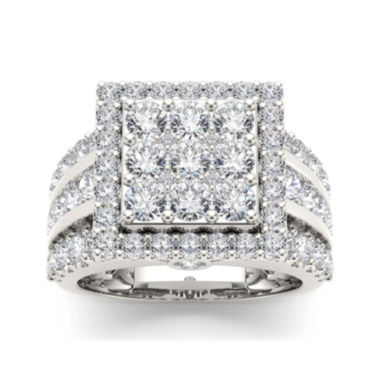 jcpenney.com | 3 CT. T.W. Diamond 10K White Gold Engagement Ring