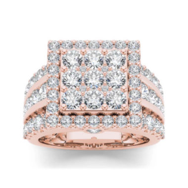 jcpenney.com | 3 CT. T.W. Diamond 10K Rose Gold Engagement Ring