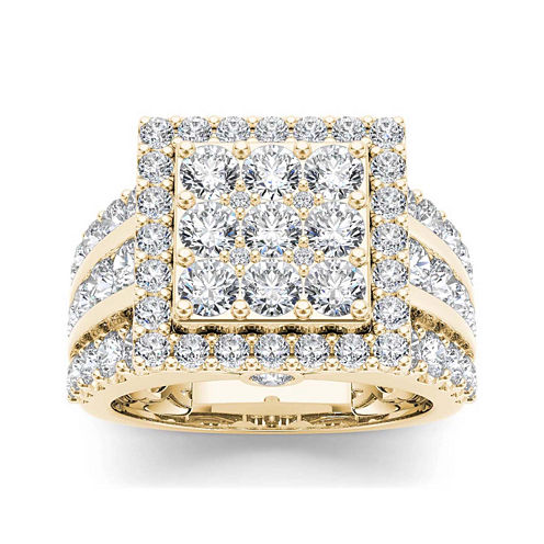 3 CT. T.W. Diamond 10K Yellow Gold Engagement Ring