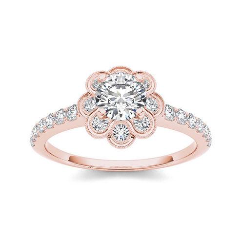1 1/4 CT. T.W. Diamond 14K Rose Gold Engagement Ring