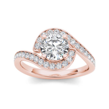 jcpenney.com | 1 1/2 CT. T.W. Diamond 14K Rose Gold Engagement Ring