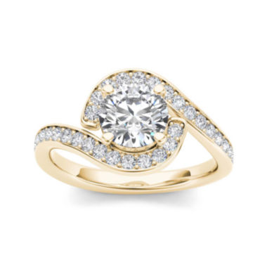 jcpenney.com | 1 1/2 CT. T.W. Diamond 14K Yellow Gold Engagement Ring