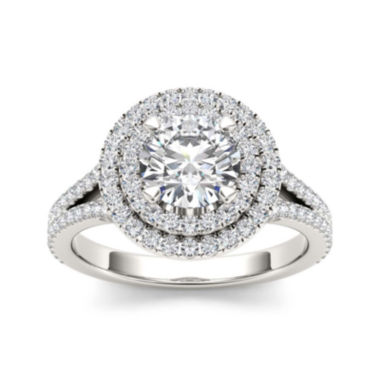 jcpenney.com | 1 1/2 CT. T.W. Diamond 14K White Gold Engagement Ring
