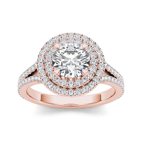 1 1/2 CT. T.W. Diamond 14K Rose Gold Engagement Ring