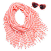 2-pc. Stripe Sunglasses and Scarf Set - Girls