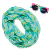 2-pc. Chevron Sunglasses and Scarf Set - Girls