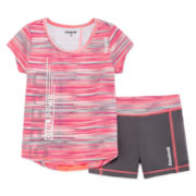 Reebok® 2-pc. Short-Sleeve Space Tee and Shorts Set - Preschool Girls 4-6x
