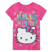 Hello Kitty® Short-Sleeve Face Tee - Preschool Girls 4-6x