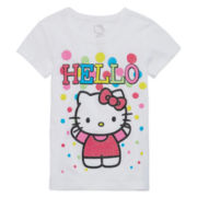Hello Kitty® Short-Sleeve Dot Tee - Preschool Girls 4-6x