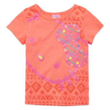 jcpenney.com | Hello Kitty® Short-Sleeve Neon Coral Tee - Toddler Girls 2t-4t