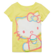 Hello Kitty® Short-Sleeve Neon Yellow Tee - Toddler Girls 2t-4t