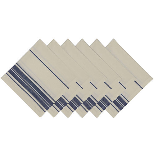 Design Imports Farm Fresh Stripe Set of 4 Napkins