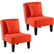 Holly & Martin Purban Set of 2 Slipper Chairs
