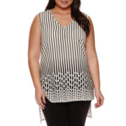 Worthington® Sleeveless High-Low Blouse - Plus