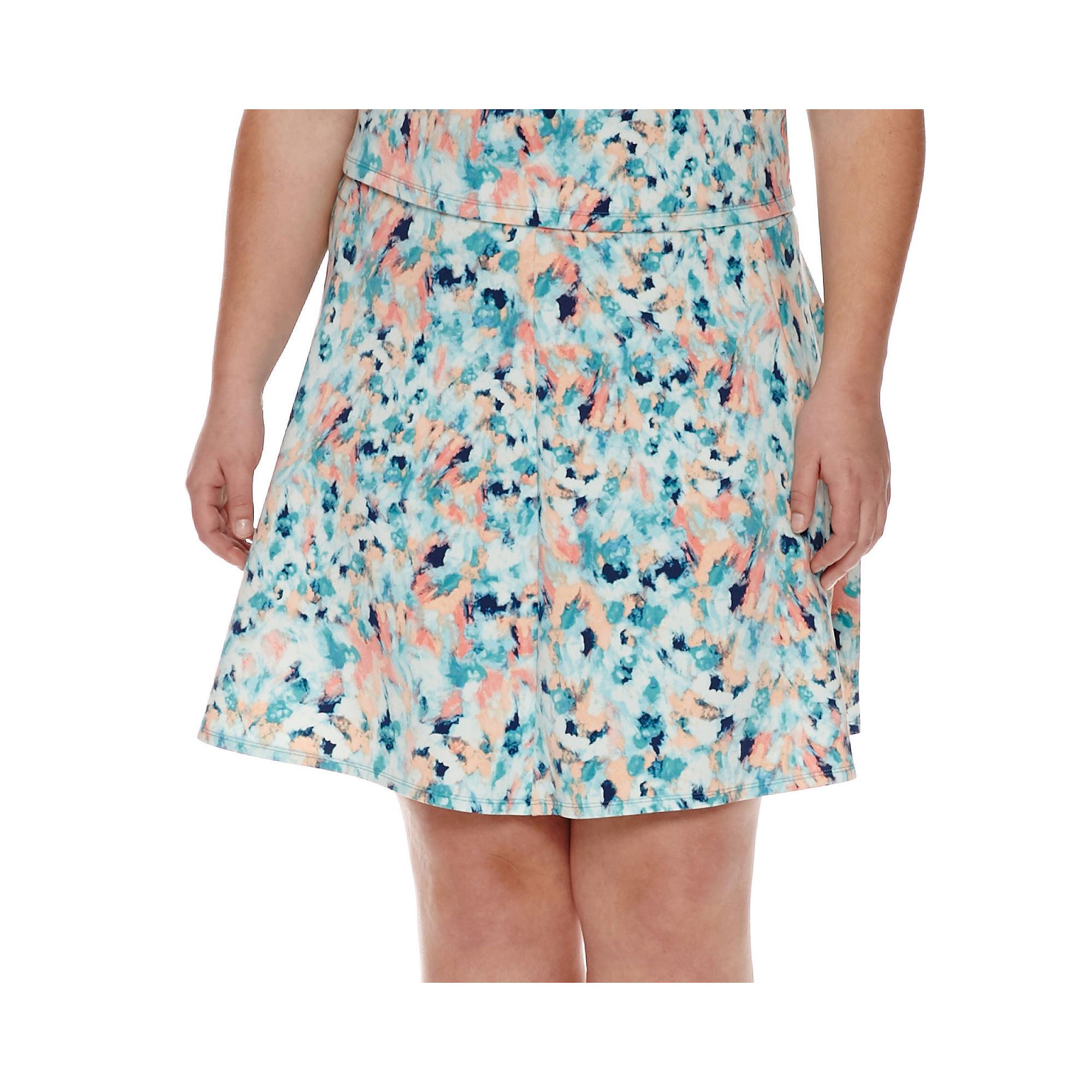 Decree Skater Skirt - Juniors Plus plus size,  plus size fashion plus size appare