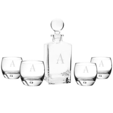 jcpenney.com | Cathy's Concepts Personalized 5-pc. Square Whiskey Decanter & Glasses Set