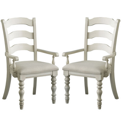 Tucker Hill Set of 2 Ladder-Back Arm Chairs