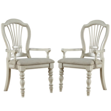 jcpenney.com | Tucker Hill Wheat Set of 2 Back-Arm Chairs