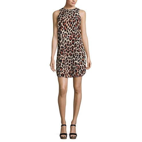 a.n.a Sleeveless Animal Shift Dress